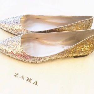 Zara Ombré glitter shoes size 38/8 🥳😎❤️
